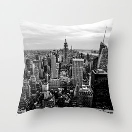 New York City B&W Throw Pillow