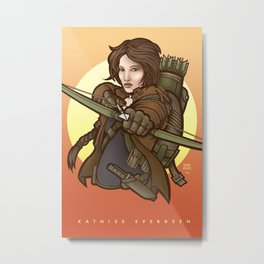 Katniss Everdeen (HungerGames) Metal Print