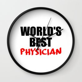 worlds best doctor funny saying Wall Clock