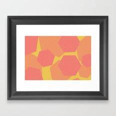 Hexa-Pattern Framed Art Print