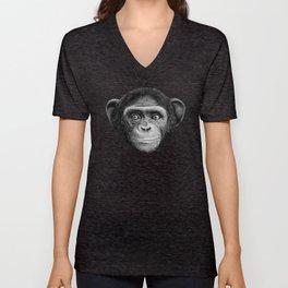 Chimpanzee Unisex V-Neck