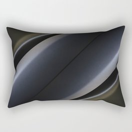 Mat black and silver wrap foil Rectangular Pillow