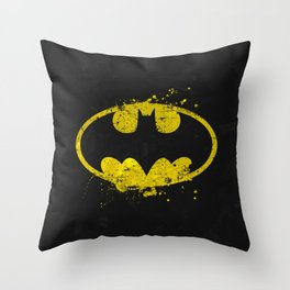 Bat man's Splash Throw Pillow