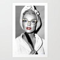 Marilyn M. Large Size Portrait #11 Art Print