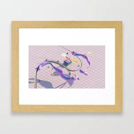 Be water, my friend Framed Art Print