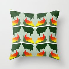 Burning Ships Throw Pillow