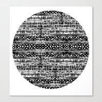 dot Canvas Prints featuring Dot by Tillytyler