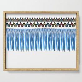 Blue threads design Serving Tray