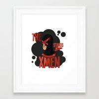 xmen Framed Art Prints featuring The X stands 4 XMEN by JakbTIME