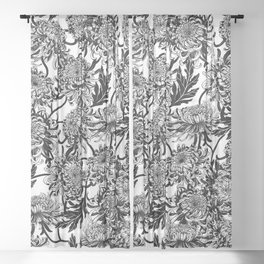 chrysanthemica Sheer Curtain