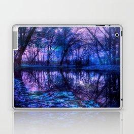 Enchanted Forest Lake Purple Blue Laptop & iPad Skin