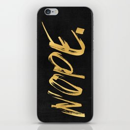 NOPE Copper Gold on Black iPhone Skin