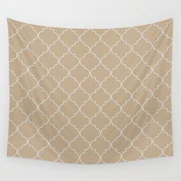 Warm Sand Quatrefoil Wall Tapestry