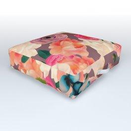 Peachy Blooms Outdoor Floor Cushion