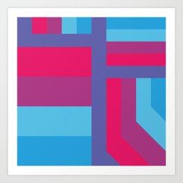 stripes pattern 9 geometric bp Art Print