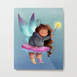the lazy fairy godmother Metal Print