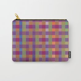 darker brights plaid Carry-All Pouch