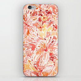 LILY LUST Peach Painterly Floral iPhone Skin