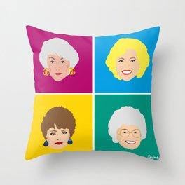 The Golden Girls - Pop Art Style Throw Pillow