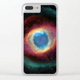 Helix (Eye of God) Nebula Clear iPhone Case