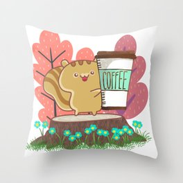 The Quest For A Perfect Cup Of Coffee Throw Pillow