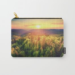 Sunset over forest Carry-All Pouch