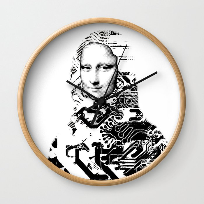 Mona Lisa Platina 1 Wall Clock