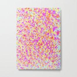 Splattered Pastel Watercolour Paint Look Metal Print
