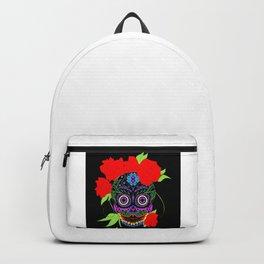Rosa Adela calavera skull ecopop Backpack