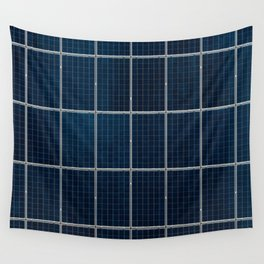 Solar Panel Pattern (Color) Wall Tapestry