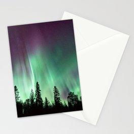 Colorful Northern Lights, Aurora Borealis Stationery Cards