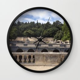 Jardins de la Fontaine Wall Clock