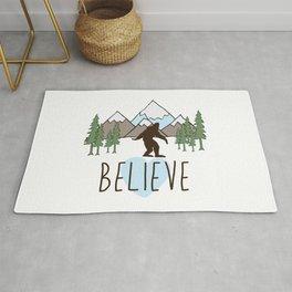 Believe in Bigfoot Rug
