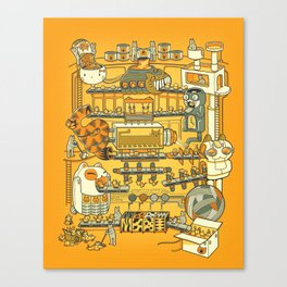 Meow Remix Canvas Print