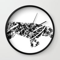 labrador Wall Clocks featuring Labrador Scribble by Jake Stanton