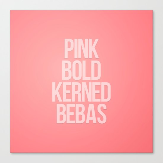 MetaType Pink Canvas Print