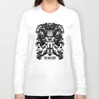 starfox Long Sleeve T-shirts featuring Fox McCloud Star Fox Inspired Geek Psychological Inkblot by Barrett Biggers