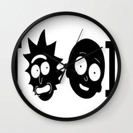[Rick and Morty] black T-Shirt Wall Clock