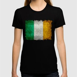 Flag of Ireland, Vintage retro style T-shirt