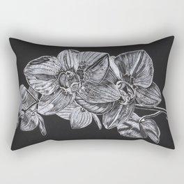 Silver Orchid Rectangular Pillow