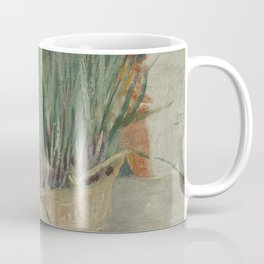Flowerpot with Garlic Chives Coffee Mug