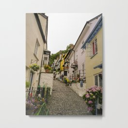 CLOVELLY MAIN STREET NORTH DEVON Metal Print