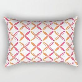 Urban Nesian Pink and Orange Siapo Rectangular Pillow
