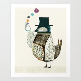 the dapper bird Art Print