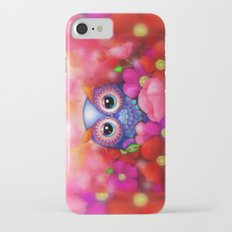 Owl in Poppy Field iPhone 7 Slim Case