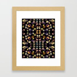 Dark Pansies Framed Art Print
