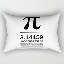 Pi Typography Art Rectangular Pillow