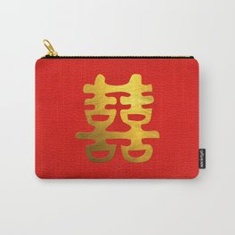 Double Happiness Feng Shui Symbol Carry-All Pouch