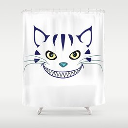 Grinning  Cheshire Cat Shower Curtain
