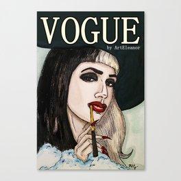 Ashley Dzerigian in VOGUE 2 Canvas Print
